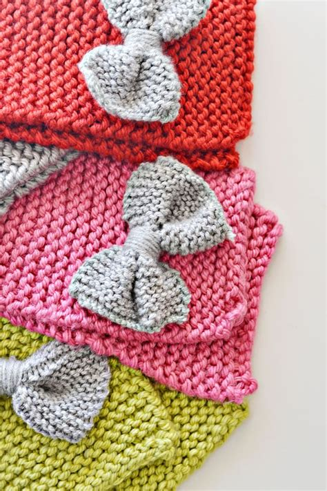 how to knit a bow bow scarf knitting for ones