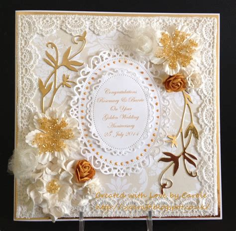 The Things I Golden Wedding Card And Box