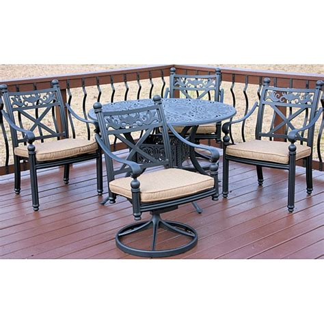 overstock patio furniture sets madrid 5 patio furniture set overstock shopping