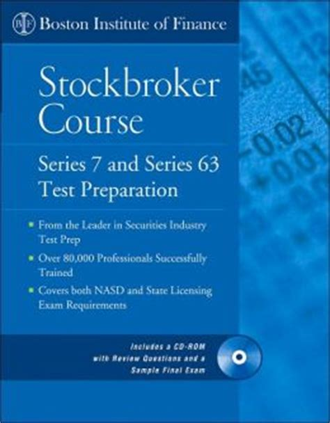 course of the series 1 boston institute of finance stockbroker course series 7