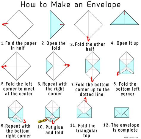 how to make envelopes for cards how to make your own origami envelope from paper cool2bkids