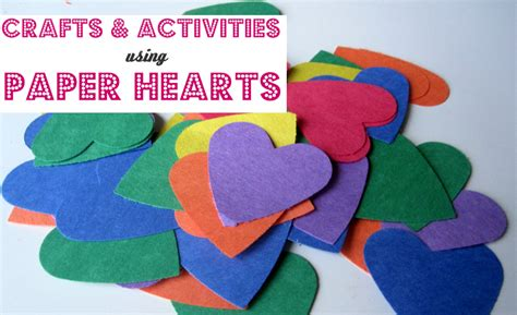 paper craft activities paper hearts crafts activities no time for flash cards