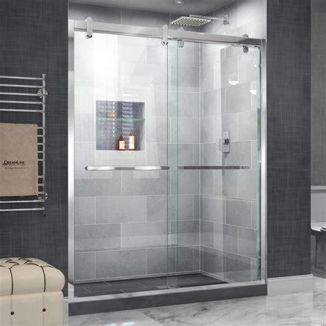 steel shower doors shop dreamline cavalier 56 in to 60 in frameless polished