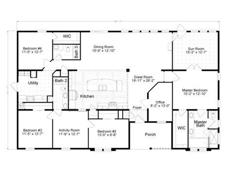 2500 sq ft floor plans 2500 sq ft modular house plans single story