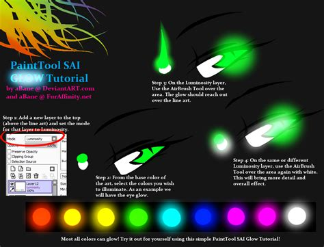 drawing with paint tool sai tutorial painttool sai glow tutorial by abane on deviantart