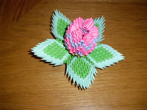 3d origami flower 3d origami lotus flower by justtree on deviantart