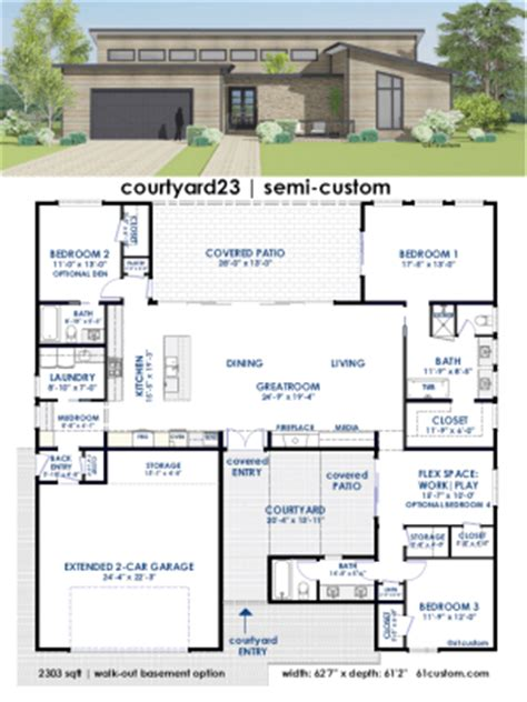 custom house plan modern house plans floor plans contemporary home plans