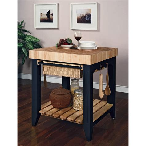 butcherblock kitchen island powell color story antique black butcher block kitchen island kitchen islands and carts at