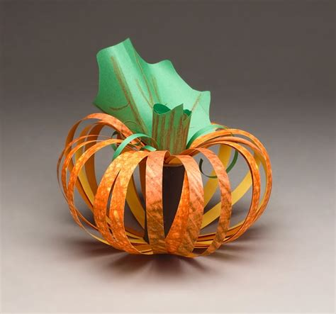 paper pumpkin craft paper pumpkin craft crayola