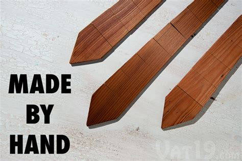 made by woodworking the wood tie necktie made from the wood planks of an