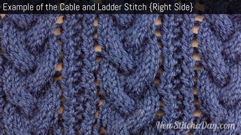 what does right side in knitting exle of the cable and ladder stitch right side