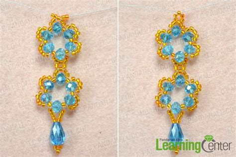 beaded flower earring patterns how to make beaded flower earrings tutorial with simple