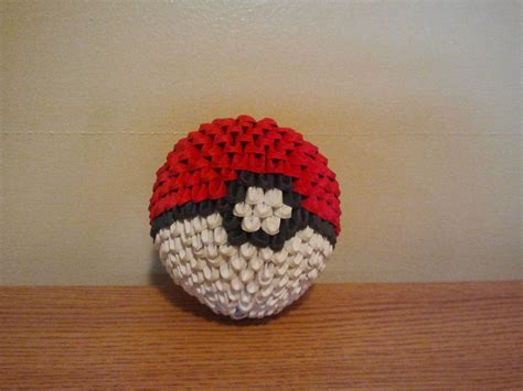 3d Origami Pokeball By Pokegami On Deviantart
