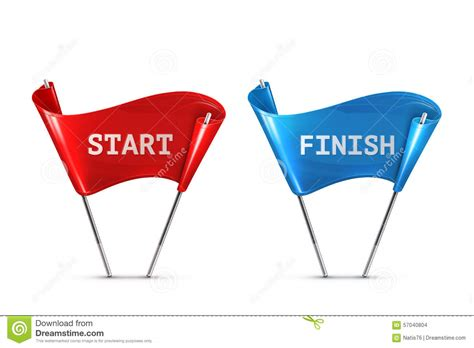 start to finish start and finish flags stock vector image of runway