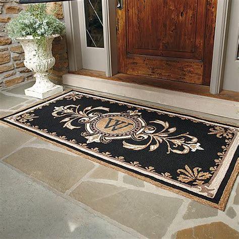 huntington rubber st huntington monogrammed entry mat traditional doormats
