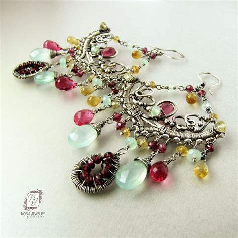 custom make jewelry buy a custom sterling silver chandelier earrings pink
