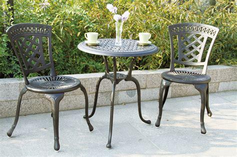 bistro set patio furniture patio furniture bistro set cast aluminum new port