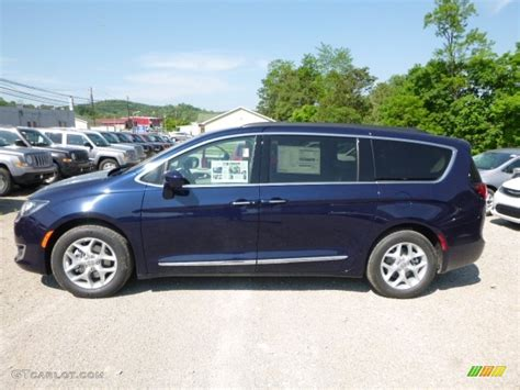 Blue Chrysler Pacifica by 2017 Jazz Blue Pearl Chrysler Pacifica Touring L