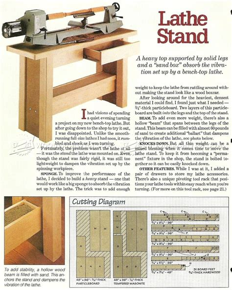 wooden stands woodworking plans lathe stand plans woodarchivist