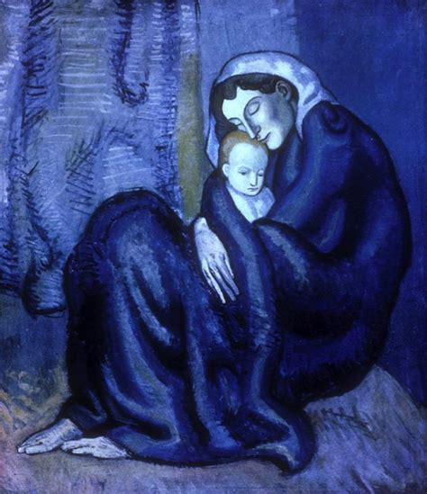 picasso paintings blue and child 1902 by pablo picasso