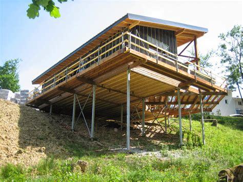 Sloped Lot House Plans vivienda unifamiliar aislada en un terreno inclinado