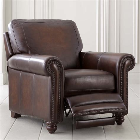 leather recliner chairs rubbed brown leather recliner