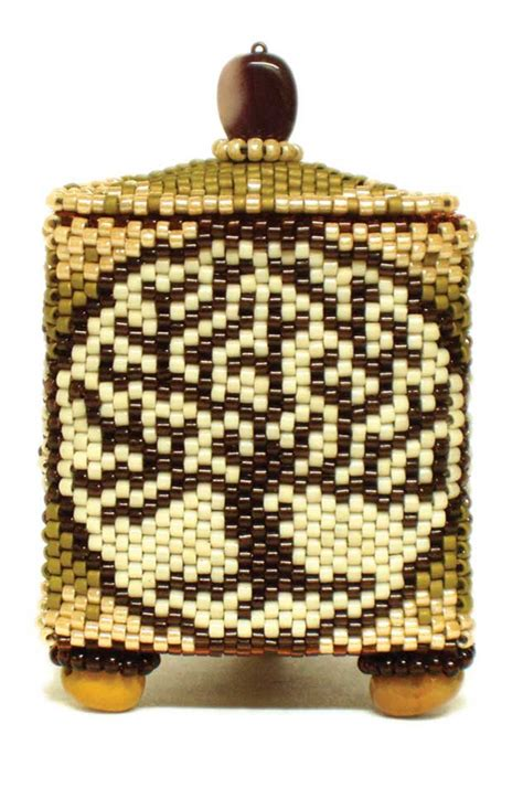 beaded boxes bead boxes on box patterns peyote stitch and