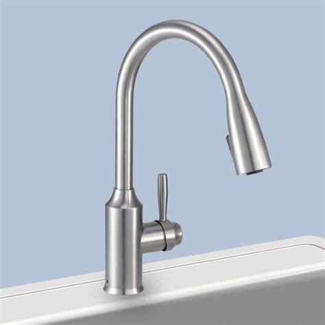 glacier bay kitchen sinks glacier bay fp4a4080ss invee 8 in pulldown kitchen faucet