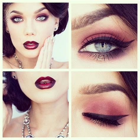 make up burlesque make up with ombre lip and fashion