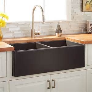 gray kitchen sink 33 quot reinhard bowl fireclay farmhouse sink
