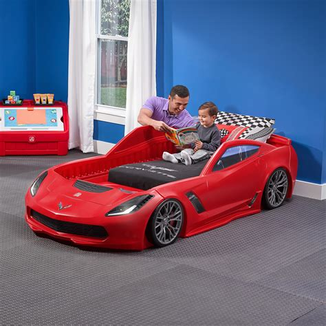 corvette z06 toddler to bed beds step2