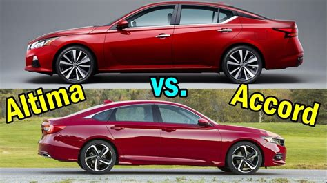 Nissan Accord by 2019 Nissan Altima Vs Honda Accord Visual Comparison