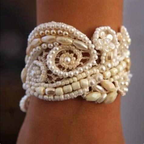 how to make lace jewelry wonderful diy pretty pearl lace bracelet