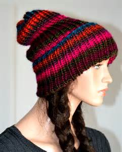 slouchy knit beanie knit slouchy beanie hat handmade slouchy hat s