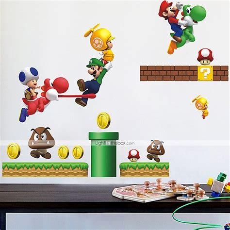 mario stickers for walls wall stickers wall decals style mario pvc wall stickers