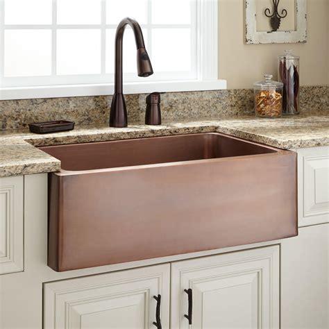 farmhouse style kitchen sinks 30 quot kembla copper farmhouse sink for the farm