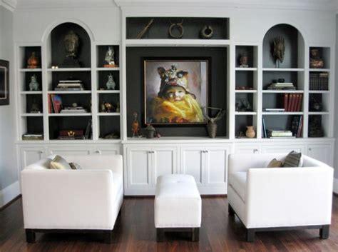 depth of bookshelves contemporary shelving options for trendy living rooms