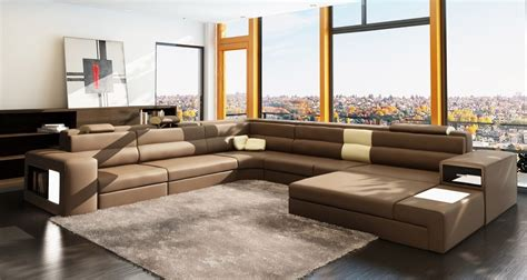 sectional sofa leather polaris brown italian leather sectional sofa