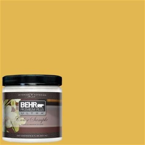 behr paint colors interior yellow behr premium plus ultra paint 8 oz 360d 6 yellow gold