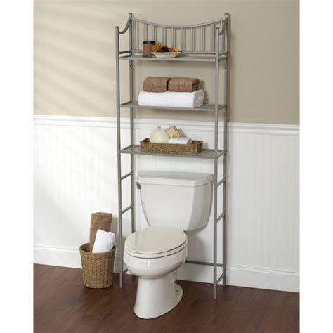 bathroom storage walmart metal spacesaver bath storage rack 3 shelf satin nickel