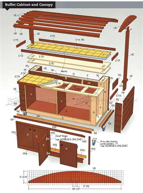 buffet woodworking plans rolling outdoor buffet table plans woodarchivist