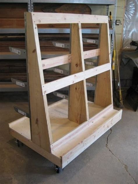 woodworking storage sheet goods and wood storage cart by randy price
