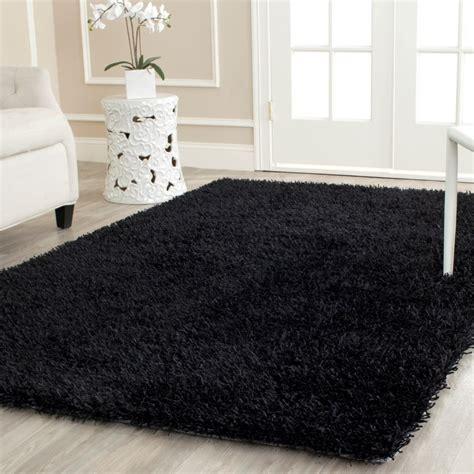 black shag rug safavieh handmade black area rug reviews wayfair