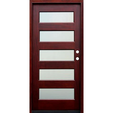 home hardware exterior doors pacific entries 36 in x 80 in contemporary 5 lite mist