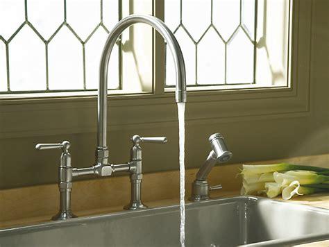 4 kitchen sink faucet k 7337 4 hirise deck mount bridge kitchen sink faucet