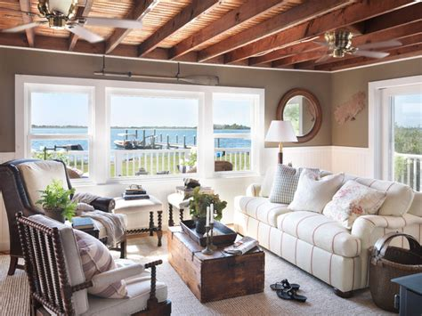 Coastal Cottage   Beach Style   Living Room   providence   by Kate Jackson Design
