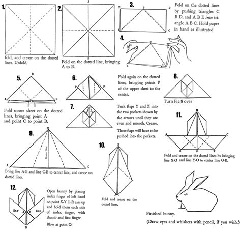 easy origami easter bunny origami easter bunny