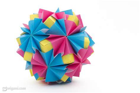 modular origami sonobe waltz kusudama by sinayskaya go origami