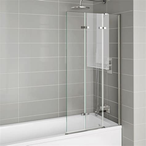 bath folding shower screens 800x1400mm modern right luxury folding 6mm bath