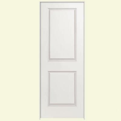 interior panel doors home depot masonite 24 in x 80 in smooth 2 panel square hollow primed composite single prehung